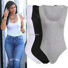 Ladies Womens Muscle Racer Back Sleeveless Bodysuit Stretch Leotard Vest Top N98