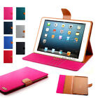 Fashion Cowboy Texture Leather Wallet Case Flip Cover For Apple Ipad mini1/2/3