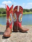 Macie Bean Red Rodeo Indian Chief Boots
