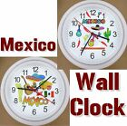 MEXICO Wall Clock CANCUN Sombrero Acupulco Gulf Tequila Mariachi Maya Aztec NEW