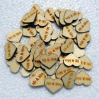 Wooden Love Heart Wedding Decoration Rustic Table Carved Crafts Scatter Favours