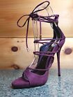 So Me Mista Demon Strappy Lace Up High Heel Shoe 6.5-11 FX Suede Wine