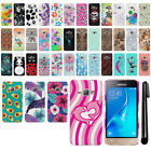 For Samsung Galaxy J1 J120 2nd Gen 2016 PATTERN HARD Back Case Phone Cover + Pen
