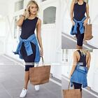 Woman Sleeveless Cocktail Maxi Dress One Piece Dress Casual Bodycon Skirt S/M/L