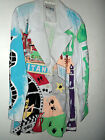 NEW sz S, M or L KOLORWAY VINTAGE HAND PAINTED BLAZER JACKET FAMOUS HOLLYWOOD