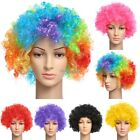 6 Colour Curly Afro Fancy Dress Funky Wig Disco Clown Mens Ladies Costume C1MY