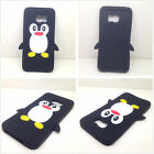New Black Soft Gel Silicone Rubber 3D Cute Penguin Case Cover For Various phones