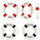 Fashion Decorative Aboard Nautical Lifebuoy Ring Wall Hanging Home Decoration
