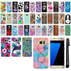 For Samsung Galaxy S7 G930 PATTERN HARD Back Case Phone Cover + Pen