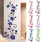 3D Romantic Rose Flower Wall Sticker Removable PVC Home decor Decal Room Vinyl Y