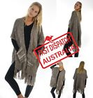 Ladies Fashion Knit Stole Winter Sleeveless Top Jacket Poncho Cape Shawl Wrap