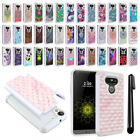 For LG G5 H850 VS987 Anti Shock Studded Bling HYBRID Case Phone Cover + Pen