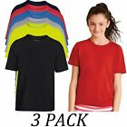 3-PACK-Gildan tshirts Tops-Youth Kids Short Sleeve Crew Neck Performance T-Shirt