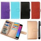 For LG Leon C40 LS665 Leather Flip Magnetic Card Holder Wallet Cover Case + Pen
