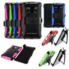 Phone Case For Straight Talk ZTE Max Duo 4g LTE Holster Rugged Cover Stand