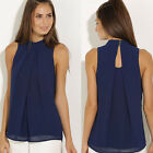 Sexy Women Vest Top Sleeveless Shirt Blouse Summer Casual Ladies Loose Tops 6-14