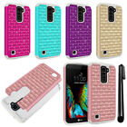 For LG K10 Premier LTE L62VL K428 Luxury HYBRID Bling Case Phone Cover + Pen