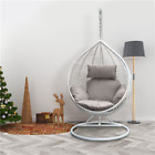 Rattan Swing Patio Garden Weave Hanging Egg Chair w/Cushion& Cover In or Outdoor
