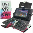 "Ocean PU Leather Micro USB Keyboard Case Stand Cover for 9"" 10"" Android Tablets"