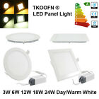 10pcs 12W Panel Led Cool Warm White Downlight Ceiling Lamp Bright Recessed Light