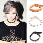 Sexy Punk Gothic Spike Rivet Cone PU Leather Womens Choker Collar Funky Necklace