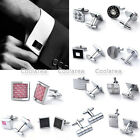 Stainless Steel Men's Wedding Party Cufflinks Classical Shirt Cuff Links Jewelry