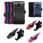 Phone Case For Alcatel Ideal 4g LTE Gophone AT&T Holster Rugged Cover Stand