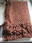 NEW WITH TAGS BROWN LOOSE WEAVE SOFT ACRYLIC SHAWL WRAP FROM ACCESSORY ST