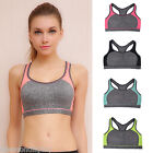 New Womens Lady Sport Yoga Top Fitness Bra Padded Tank Tops Jogging Running Gym