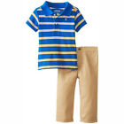 IZOD Baby Boy 2pc Polo Shirt & Twill Pant Set Royal Blue 12-18-24 MO MSRP $32.00