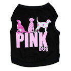 "Lovely Dog Pet Cool Shirt ""Pink Dog"" Vest for Small Pets Cloth E"