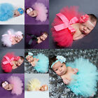 Newborn Tutu Clothes Skirt Baby Girls Knitted Crochet Photography Prop Outfits