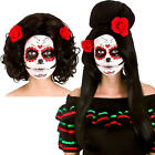 Day of the Dead Wigs Ladies Fancy Dress Skeleton Halloween Costume Accessory New