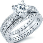 Sterling Silver Solitaire Heart Shape Clear CZ Wedding Love Fancy Ring Size 5-10