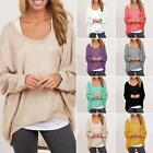 Oversize Women's Baggy Knitted Pullover Jumper Casual Long Sleeve Sweater Tops