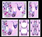 PURPLE BUTTERFLY FLORAL #2   LIGHT SWITCH COVER PLATE  U PICK SIZE