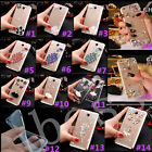 Bling Crystal Gems Diamonds Thin Clear Soft Back Shell Case Cover For Samsung #D