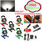 10W Portable Cordless Work Spot Light Rechargeable LED Flood Camping Hiking NEW