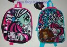 MONSTER HIGH Girls School Book Bag MINI BACKPACK Tote Pouch Draculaura Clawdeen