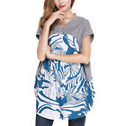 Sex Women V Neck Summer Floral Printed Short Sleeve T-shirt Top Loose Blouse New