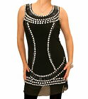 New Black Jewelled Mesh Tuinc Top - Fully Lined