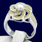 New Womens Engagement Sterling Silver Wedding Bridal Ring