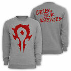 WARCRAFT - Crush your Enemies Sweatshirt Sweater Größe / size S M  L XL XXL