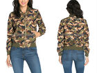 OLIVE GREEN CAMOUFLAGE Bomber Jacket Vintage Inspired CAMO Womens S M L