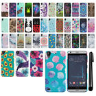For HTC Desire 530 630 PATTERN HARD Back Case Protector Phone Cover + Pen