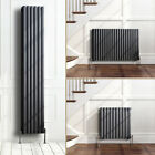 Anthracite Designer Oval Column Panel Radiators Central Heating Single Double
