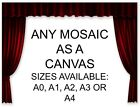 ANY MOSAIC AS A BOXED FRAMED CANVAS WALL POSTER MOVIE BAND SZ: A3 A2 A1 & A0