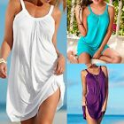 Women's Casual Sleeveless Dresses Evening Party Summer Beach Short Mini Dress AS