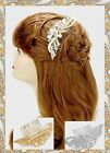 Flower Floral Crystal Rhinestone Hair Comb Stick Evening Wedding Bridal Swirl