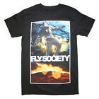 FLY SOCITY ON FIRE MEN BLACK T SHIRT